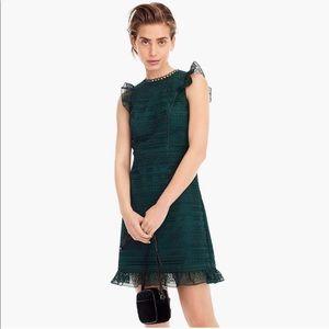 JCREW Holiday Ruffled Lace Sheath Dress
